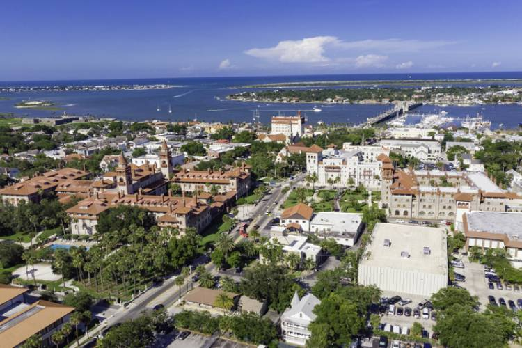 A skyline view of St. Augustine